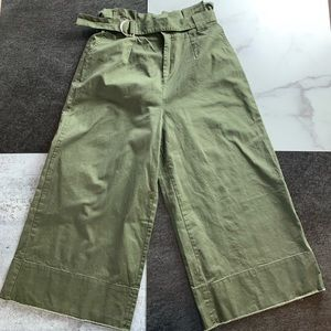 know.one.cares NWT Wide Leg Crop Paper Bag Pants
